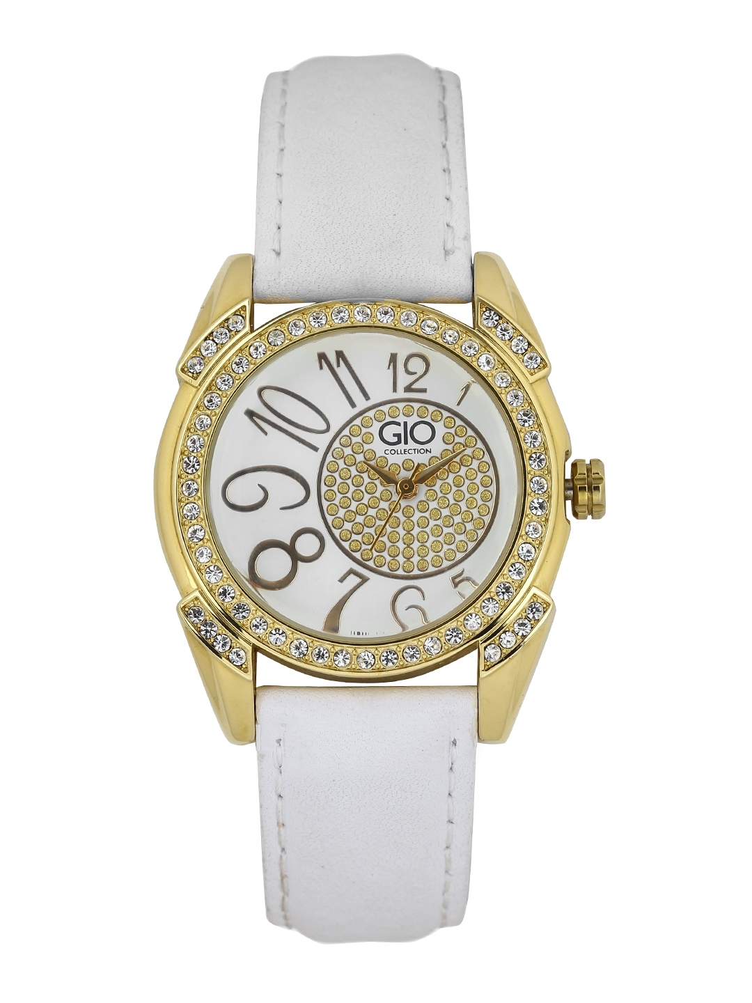 GIO COLLECTION Women White   Gold Toned Dial Watch G0041 03