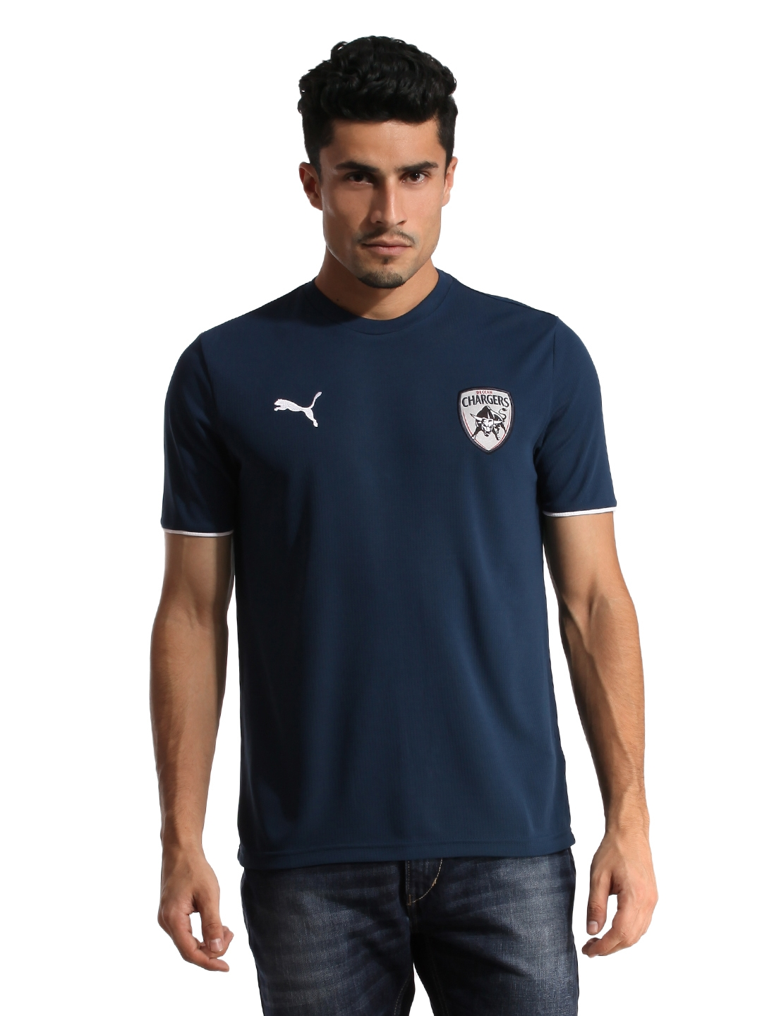Buy puma deccan chargers men navy blue lookalike jersey tshirts rs 500 biocorpaavc Image collections