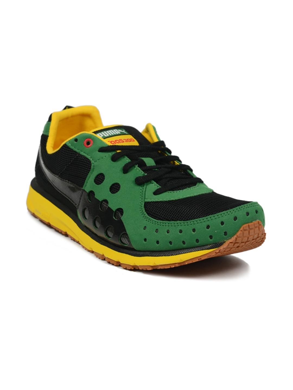 Buy Puma Men s Faas 300 JAM Black Green Yellow Shoe - Sports Shoes for Men  7840  f14ecbfc8