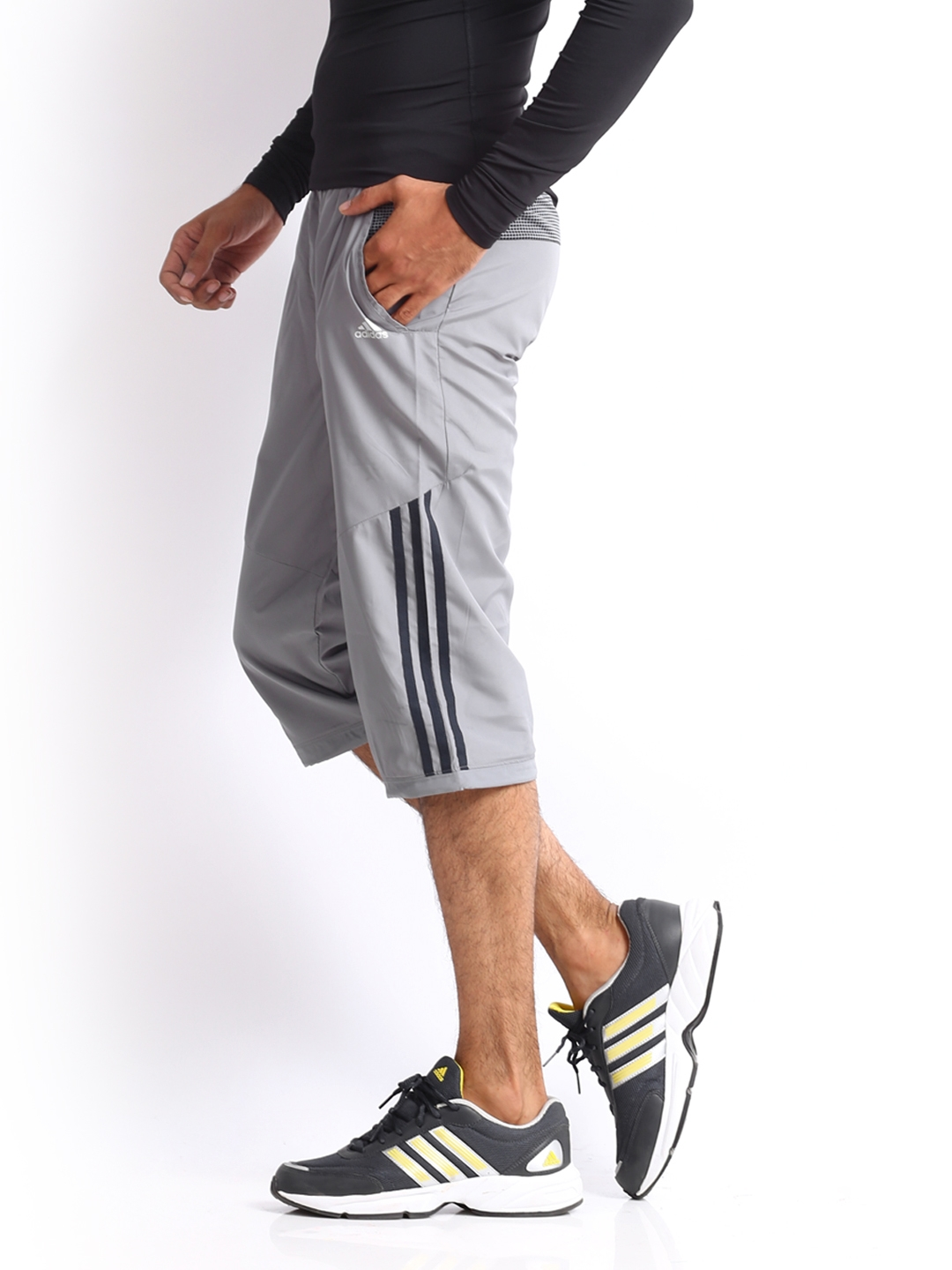 Buy ADIDAS Men Grey 3 4 Length Track Pants - Shorts for Men 252823 ... 8a580a7e69a7
