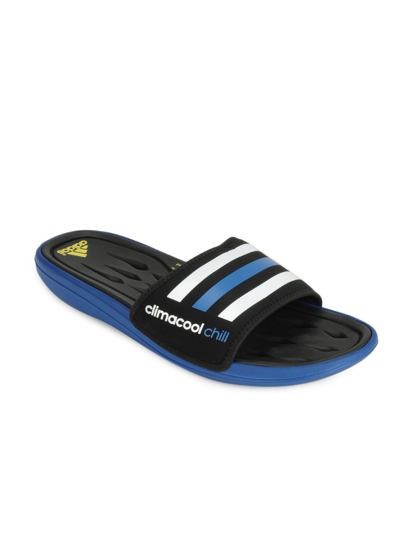 9f53a6f4514 Buy ADIDAS Men Black   White Cc Recovery Slide Flip Flops - Flip Flops for  Men 115123