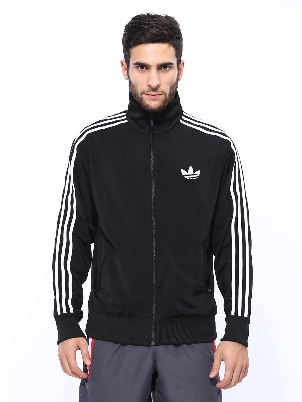 Optimismo abrigo gas  Buy ADIDAS Originals Men Black ADI FIREBIRD TT Jacket - Jackets for Men  428233 | Myntra