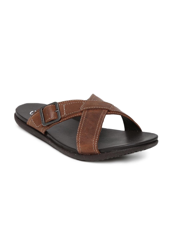 fc63da1f71c Buy Clarks Men Brown Leather Sandals - Sandals for Men 429869