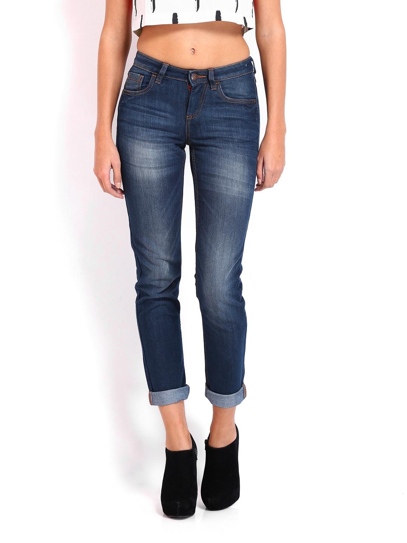 Ed Hardy Women Dark Blue Skinny Fit Jeans