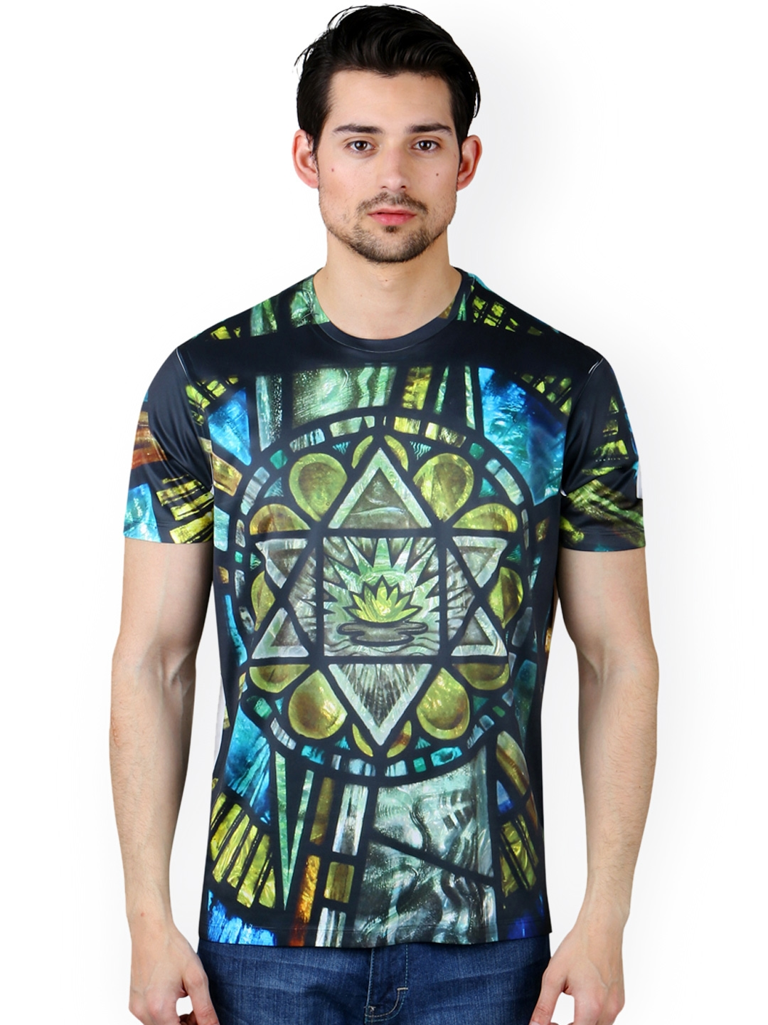 fee39405 Buy FREECULTR Express Men Multicoloured Printed T Shirt - Tshirts for Men  747038 | Myntra