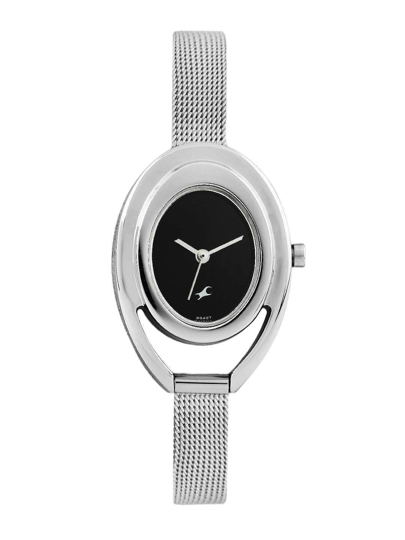 Fastrack Women Black Dial Watch 6090SM01