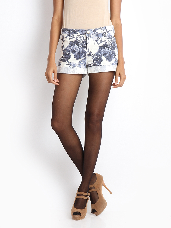 Buy Femella Front Ruffle Top For Women: Buy Femella Black Stockings - Stockings For Women