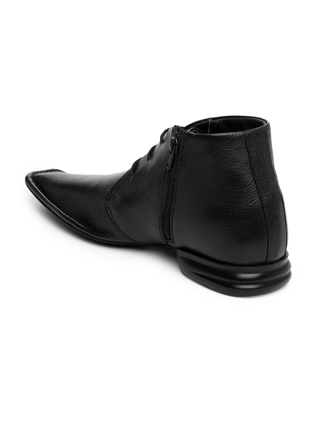 f623cb40e78 Buy Franco Leone Men Black Leather Semi Formal Shoes - Formal Shoes ...