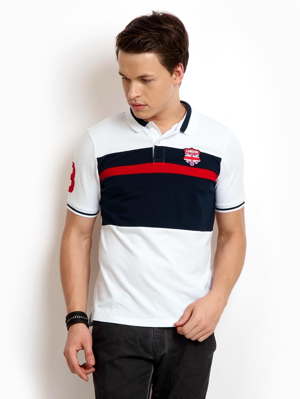 cf67953a5 Buy Giordano Men White Slim Fit Polo T Shirt - Tshirts for Men 183797