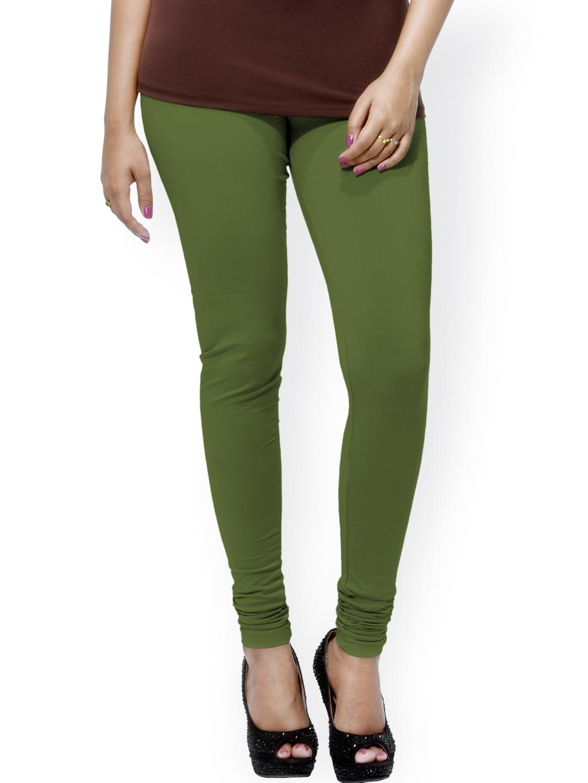 Buy Go Colors Women Olive Green Churidar Leggings Leggings For Women 816070 Myntra