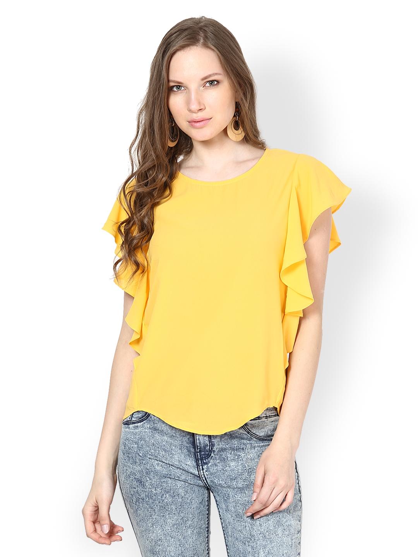 b0fe3fb13a30b4 Buy Harpa Women Yellow Top - Tops for Women 356103