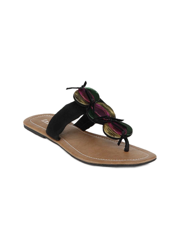 f16e8f748141 Buy Inc 5 Women Black Sandals - Flats for Women 124476