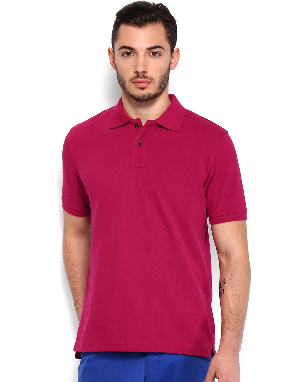 Buy Indian Terrain Men Fuchsia Pink Polo T Shirt - Tshirts for Men ...