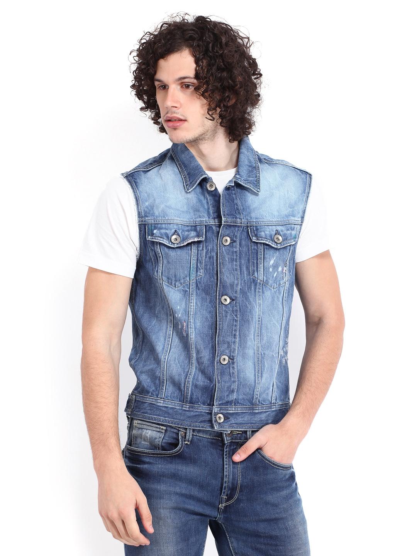 a4bbe9e6b Buy Jack   Jones Men Blue Denim Jacket - Jackets for Men 404119