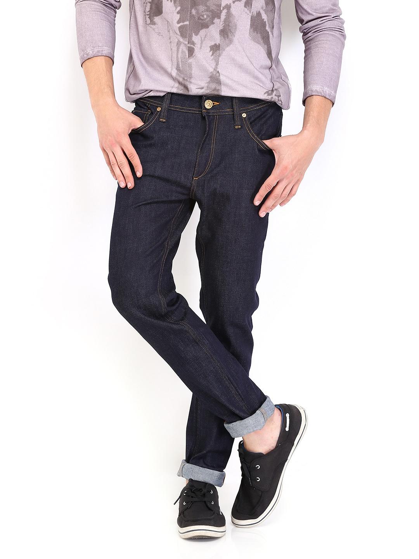 Jack   Jones Men Dark Blue Ben Skinny Fit Stretchable Jeans