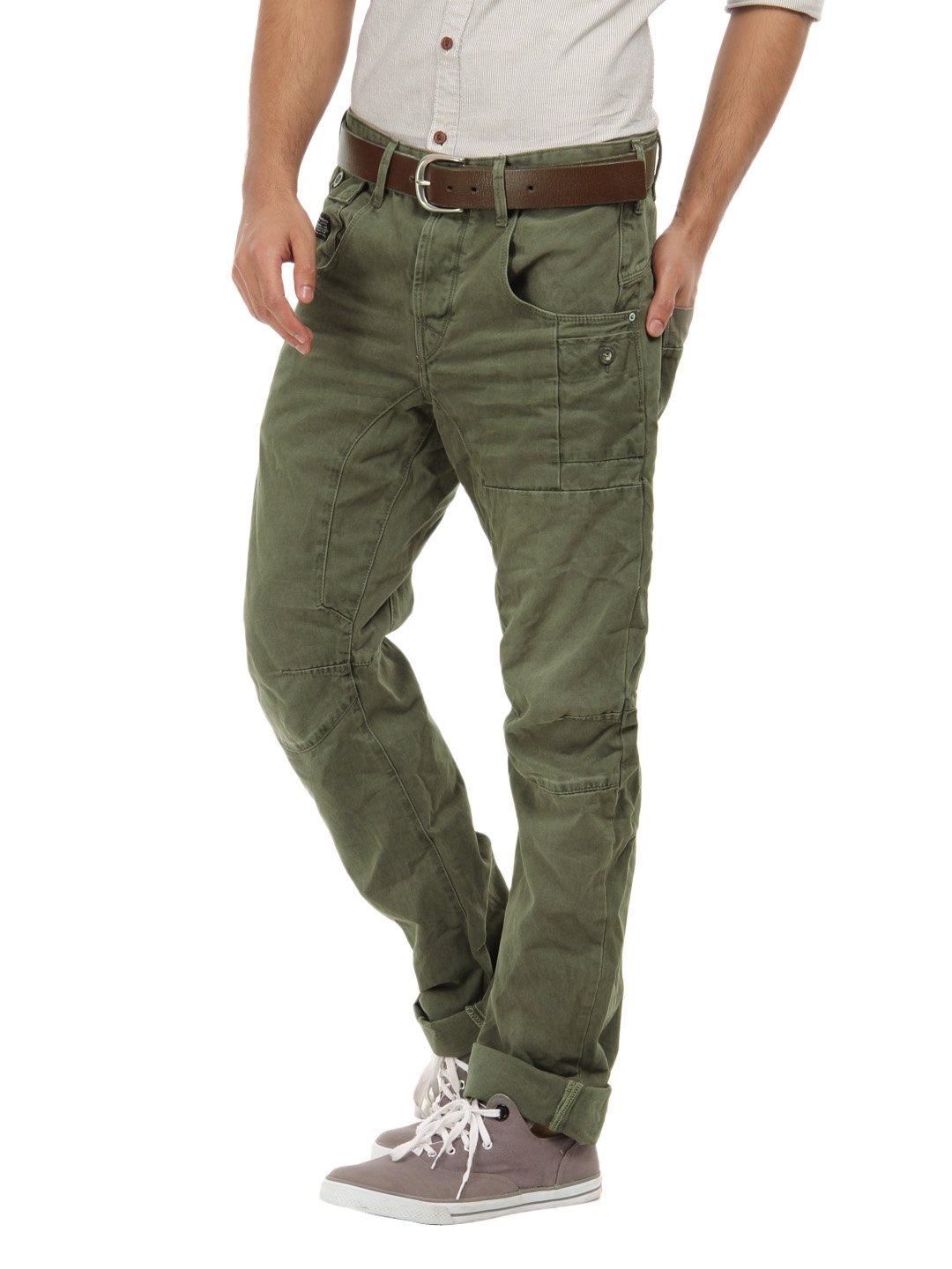2c50160d4f55a6 Buy Jack & Jones Men Green Stan Osaka Olive Night Anti Fit Jeans ...