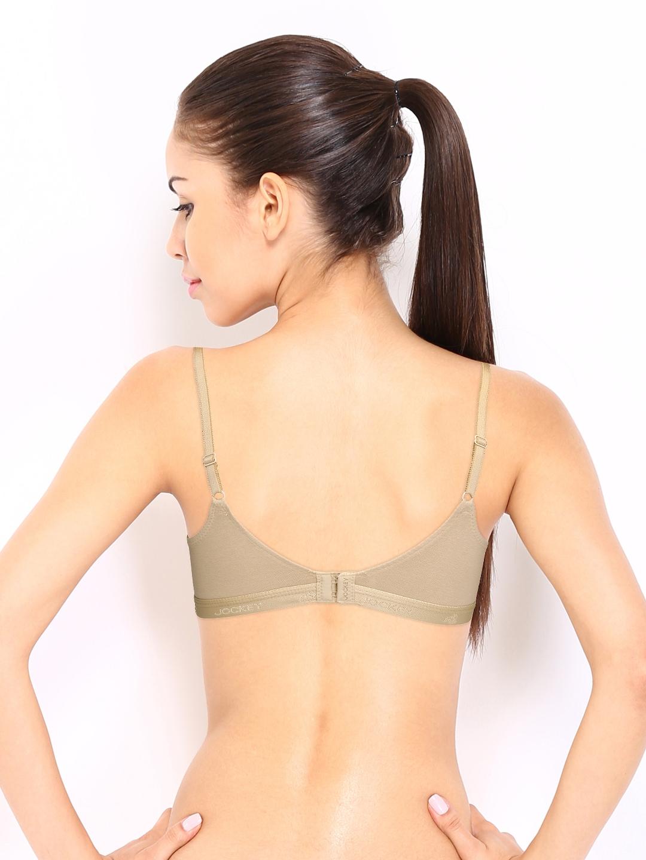 5f9c5ed0bcaf4 Buy Jockey Essence Nude Coloured Plunge Bra 12710105 - Bra for Women ...