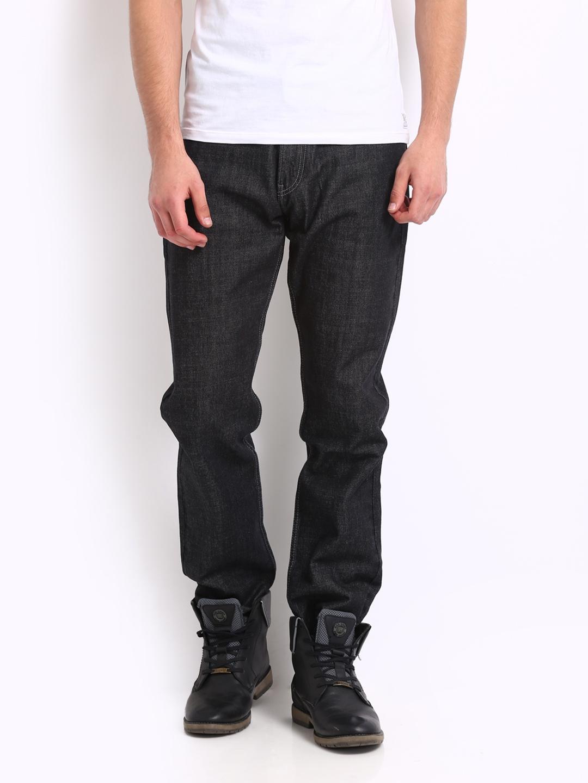20091f78 Buy Levis Men Black 504 Regular Straight Fit Jeans - Jeans for Men 263979 |  Myntra