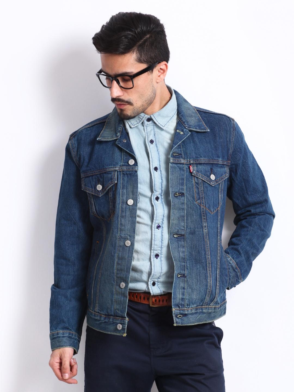 60575456d0d2 Buy Levis Men Blue Trucker Louis Denim Jacket - Jackets for Men 223278
