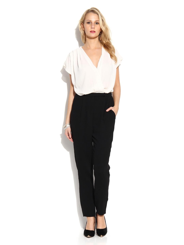 7d6ada641d Buy MANGO Women Off White   Black Jumpsuit - Jumpsuit for Women 433635
