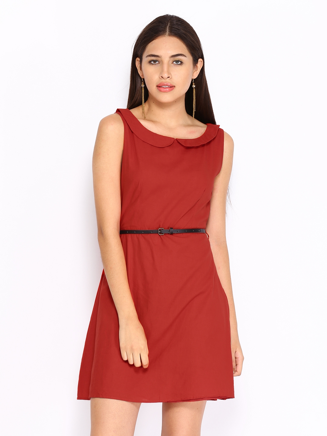 Miss Chase Red A Line Dress