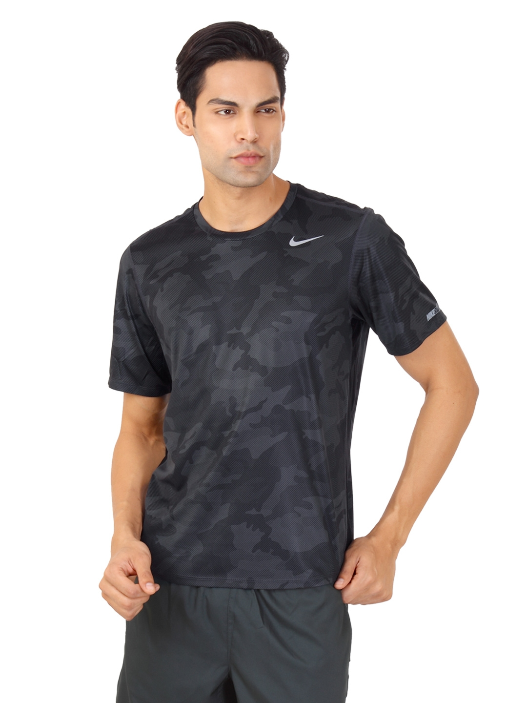 ae50576194cc Buy Nike Men Black   Grey Camouflage T Shirt - Tshirts for Men 85988 ...