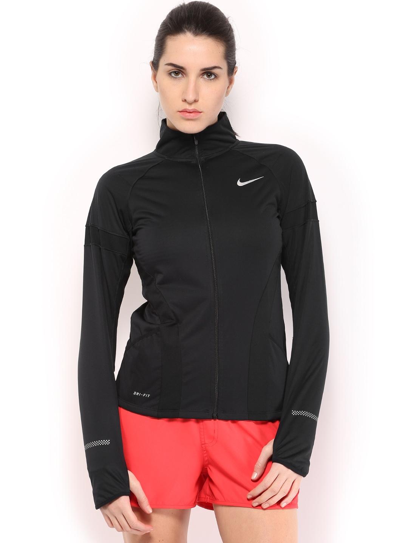 c03314988cc4 Buy Nike Women Black AS Element Shield FZ Running Jacket - Jackets for Women  491167