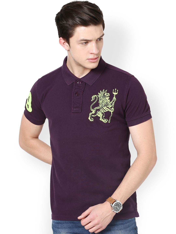 Buy Punk Men Purple Polo T Shirt Tshirts For Men 612260 Myntra