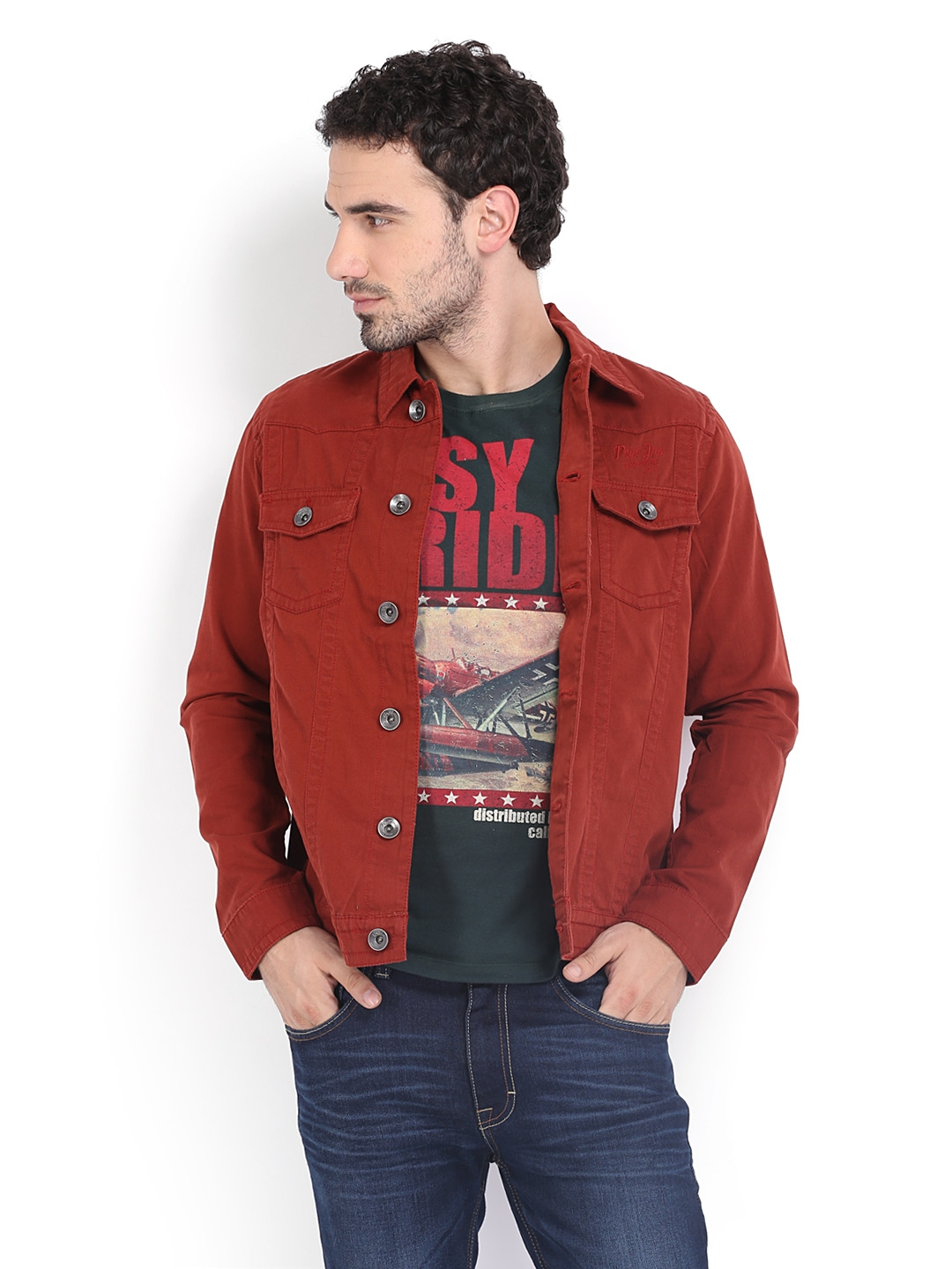 Red Jean Jacket Mens Photo Album - Watch Out, There's a Clothes About