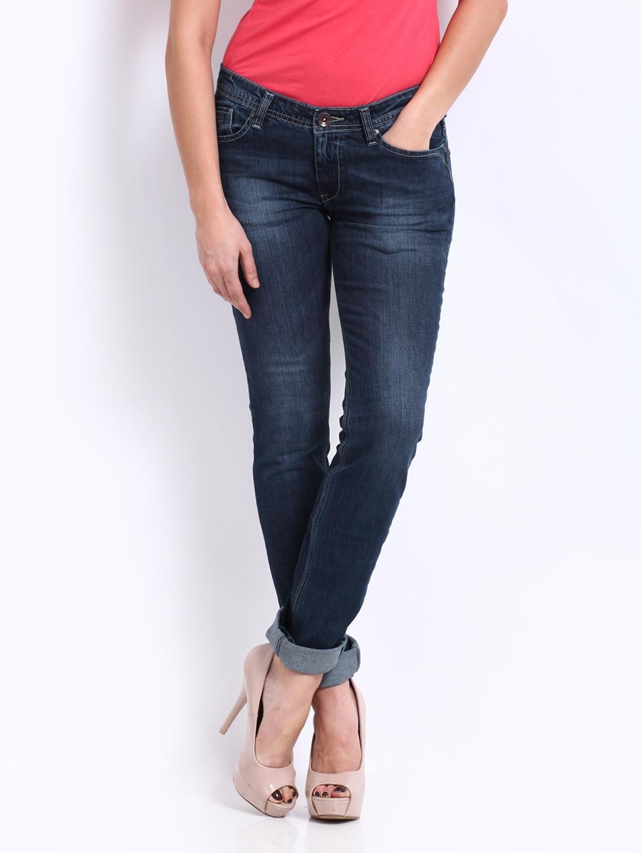 d869b3b75fe Buy Pepe Jeans Women Blue Frisky Slim Fit Jeans - Jeans for Women ...