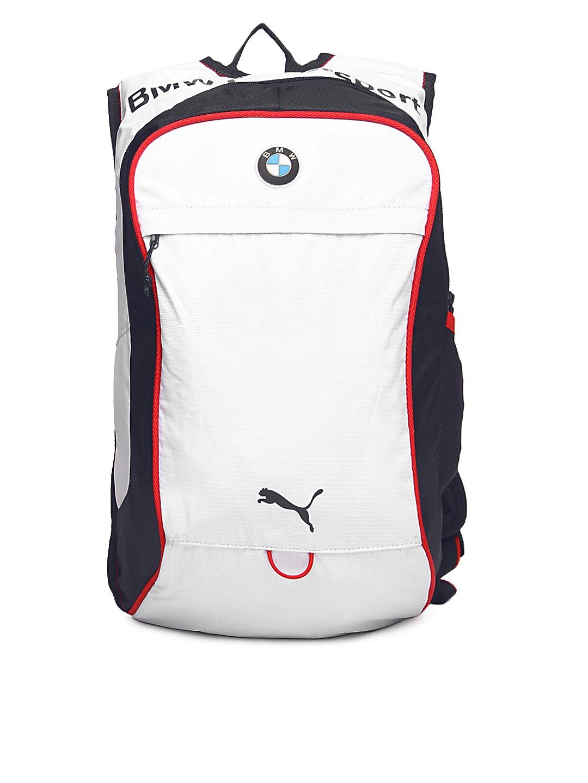 f1bd3d5068a Buy Puma Unisex White   Blue Bmw Motorsport Backpack - Backpacks for Unisex  163906   Myntra