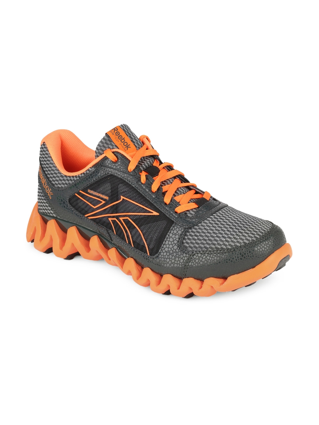outlet store 3f7c5 a56ed Buy Reebok Men Charcoal Grey Zigtech Shark Pursuit360 Sports Shoes - Sports  Shoes for Men 127096   Myntra