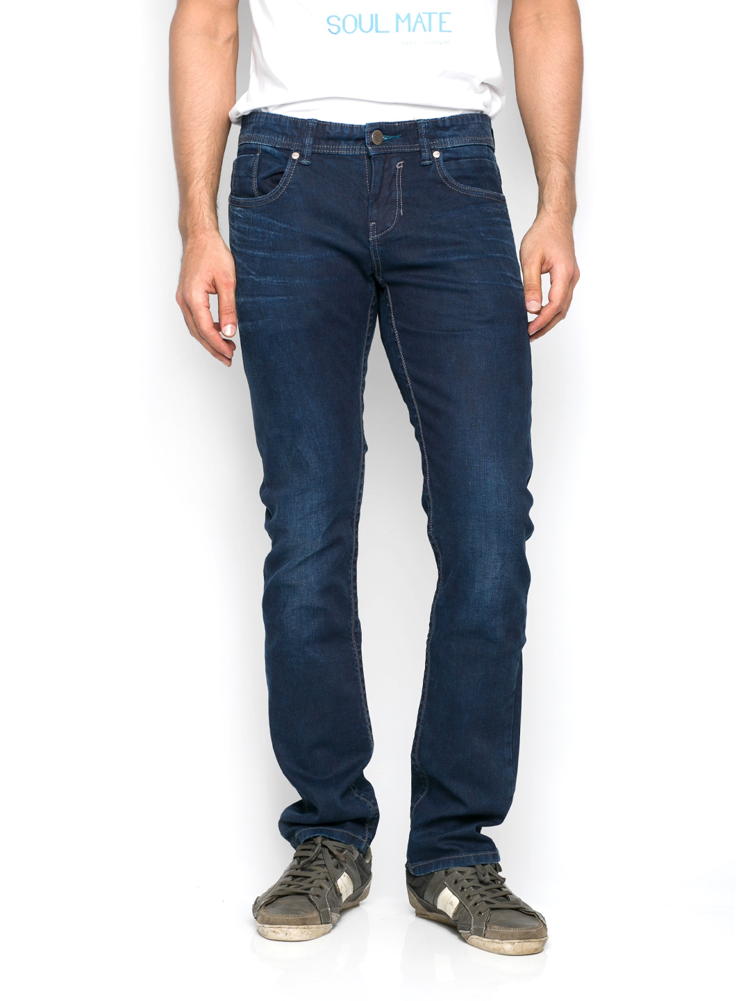9980c6b8e0 Buy Rookies Men Blue Tapered Fit Jeans - Jeans for Men 401764