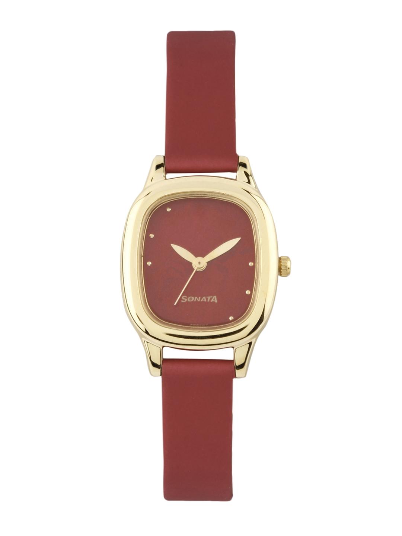 Sonata Women Red Dial Watch