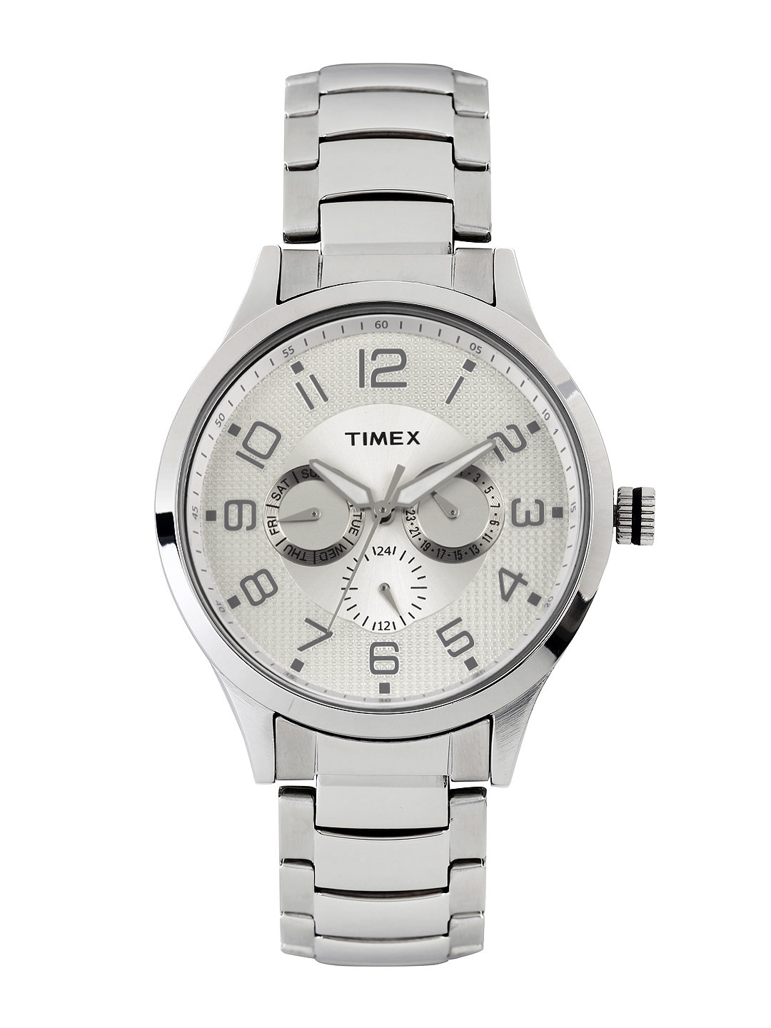 Timex Men Silver Toned Dial Watch TW000T306