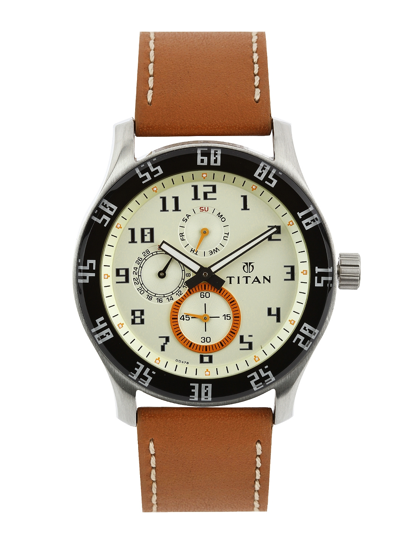 Titan Octane Men Gold Analogue watch NL1632SL02