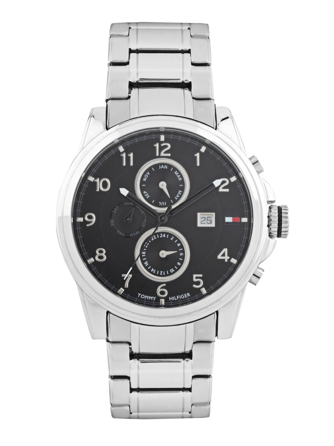516997c42e23d3 Buy Tommy Hilfiger Men Black Dial Chronograph Watch TH1710296 D ...