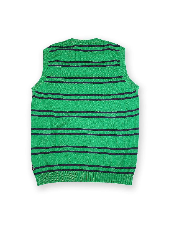 c4a28b256772 Buy U.S. Polo Assn. Kids Boys Green   Blue Striped Sleeveless ...