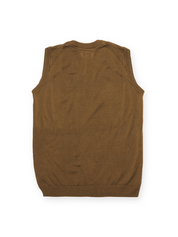 98d20940100a Buy U.S. Polo Assn. Kids Boys Brown Sleeveless Sweater - Sweaters ...