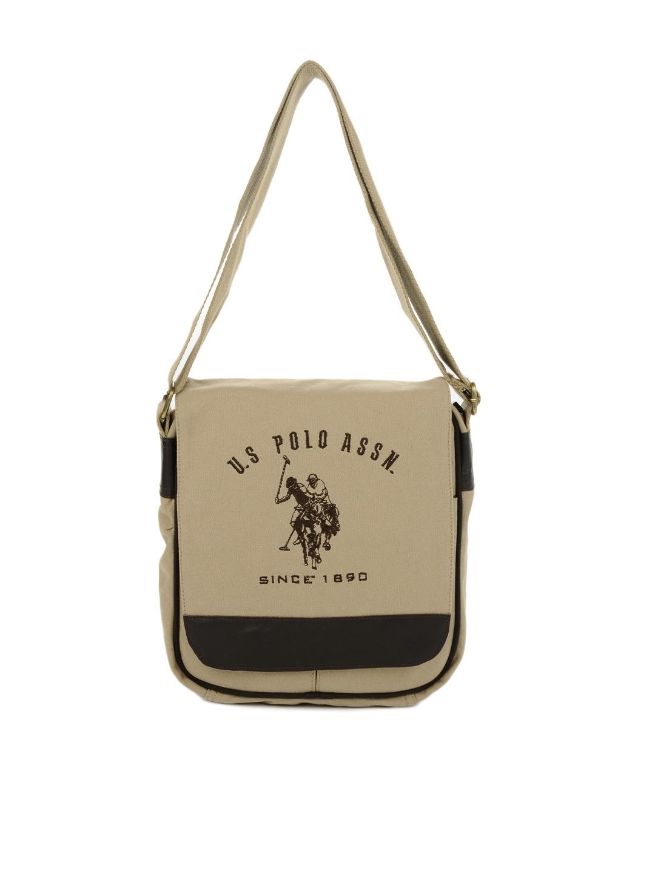 ... Buy U.S. Polo Assn. Men Khaki Sling Bag - Handbags for Men 87852 Myntra  new ... 10cad74be579e