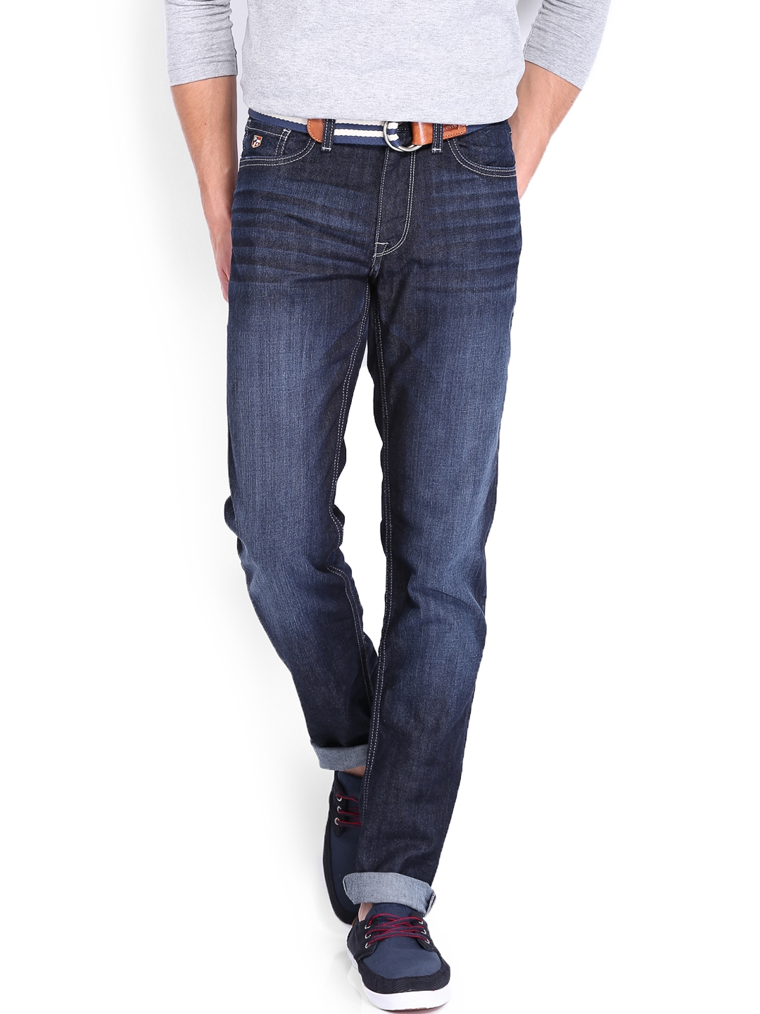 040013a3f Buy U.S. Polo Assn. Denim Co. Men Blue Slim Tapered Fit Jeans ...