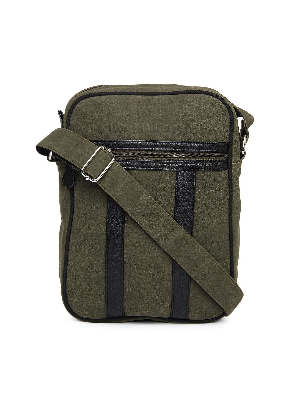 ... Buy U.S. Polo Assn. Men Green Sling Bag - Messenger Bag for Men 197245  Myntra ... 584ca5370cf8c