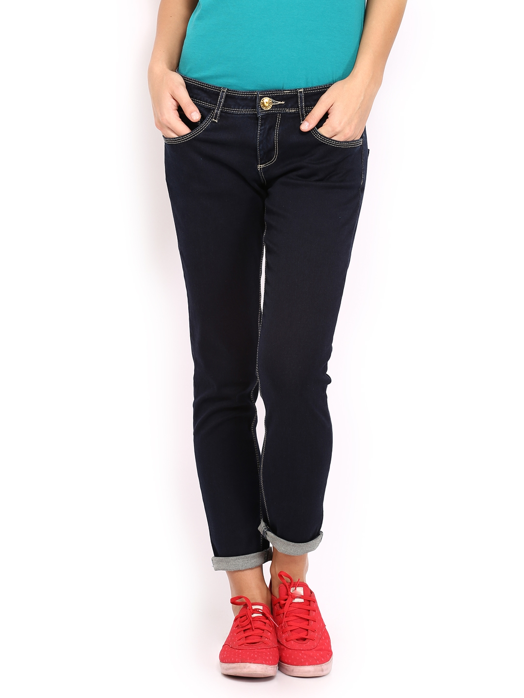 United Colors of Benetton Women Blue Slim Fit Stretchable Jeans