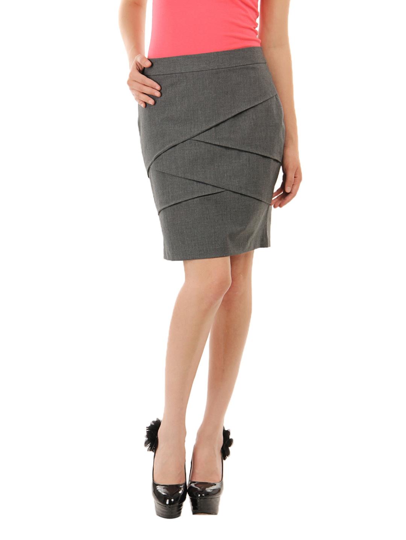 069098c3efa9 Buy Van Heusen Woman Grey Zig Zag Pleated Skirt - Skirts for Women ...