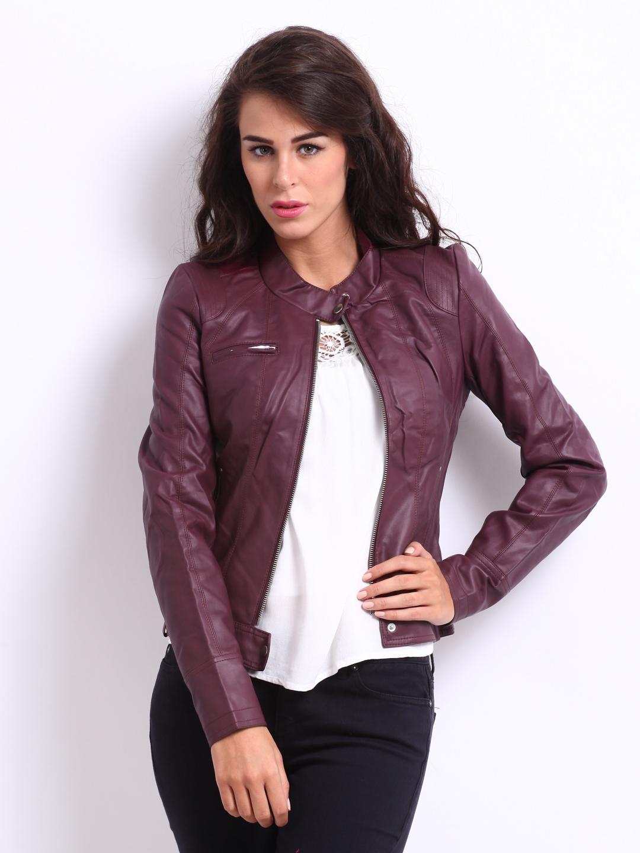 8d172d52e Vero Moda Women Burgundy Dawn Jacket