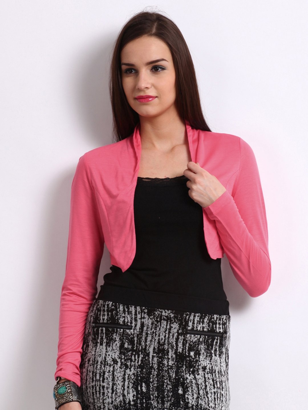 Vero Moda Woman Coral Pink Lace Shrug