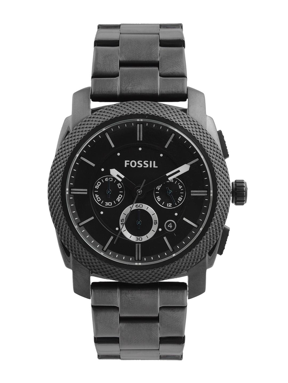 Fossil Men Black Dial Chronograph Watch FS4552