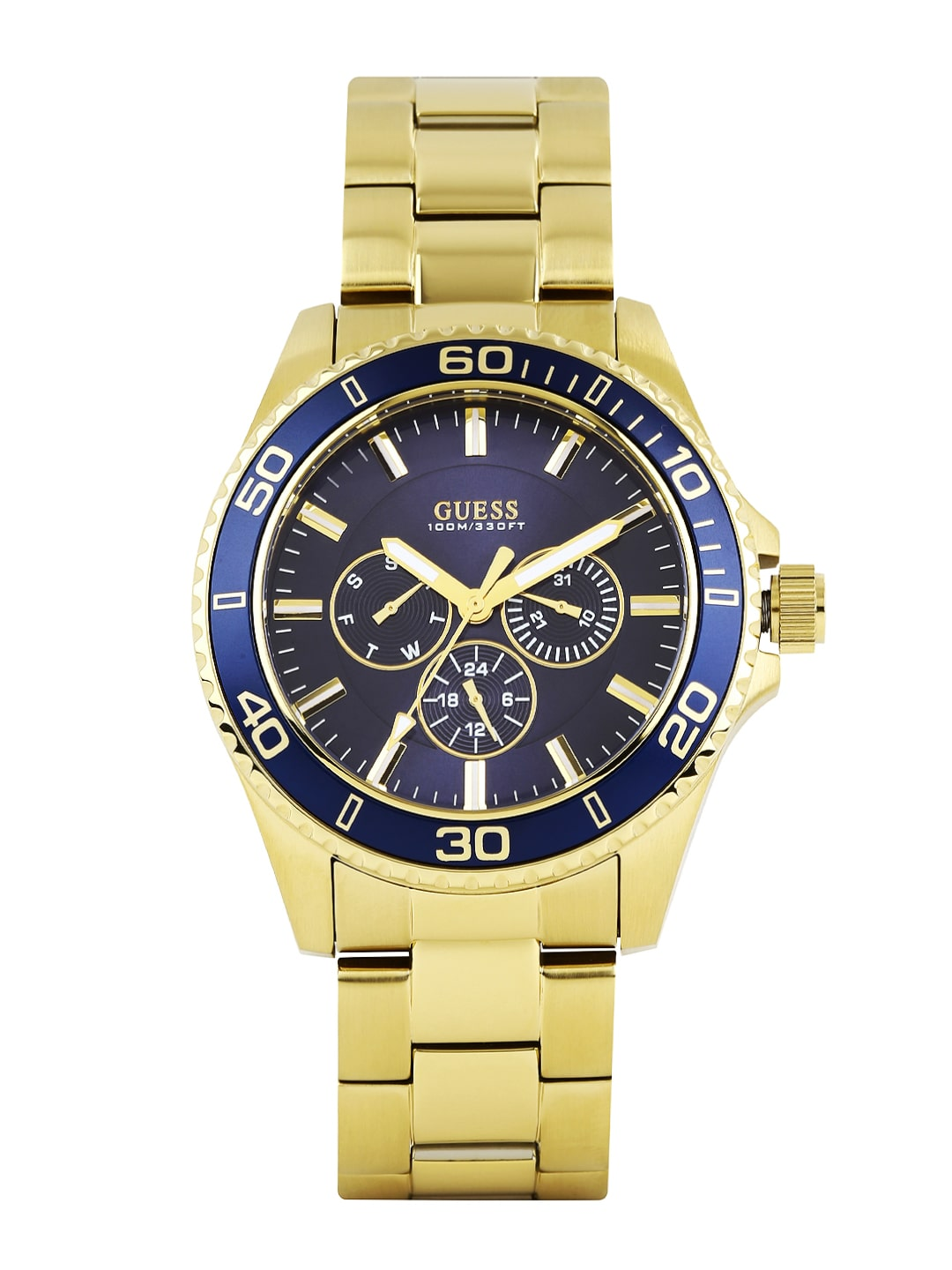 Guess w0172g5-gold Men Navy Dial Watch W0172g5 - Best Price in ... 9c48c9131891