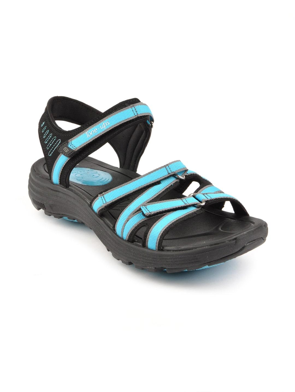 ce02bb14fd712 Skechers 38753 Women Tone Black Sandals - Best Price in India ...