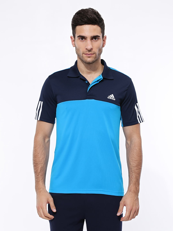 b46815f4 Adidas s15337 Men Blue Rsp Trad Climacool Tennis Polo T Shirt ...